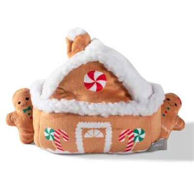 Pet Shop by Fringe Studio Gingerbread House with 3 Gingerbread Man Cookies Plush Dog Toy ()