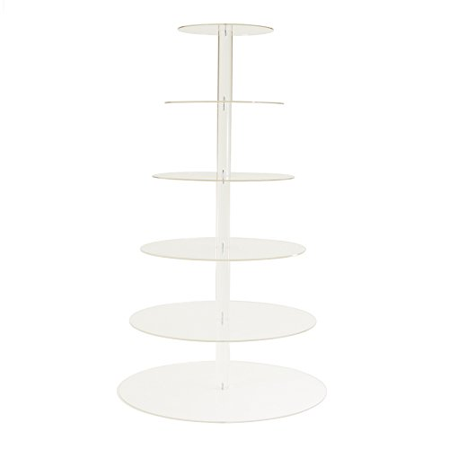 Dress My Cupcake 6-Tier Acrylic Cupcake Stand, Clear