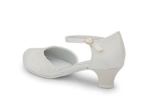 Brautschuhe Riemchenschuhe mit Feenstaub - 3,5 cm Absatzhöhe Ivory