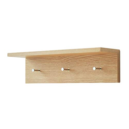 Shelves Wall Mounted,Coat Hooks Wall Mounted Wooden Shelf for Wal Wall Rack Display for Living Bedroom Kitchen Bathroom Closet (Size : 601212cm) ()