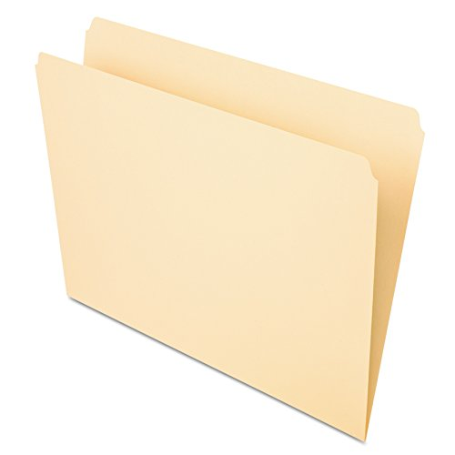 Pendaflex 752 File Folders, Straight Cut, Top Tab, Letter, Manila (Box of (Manila Filing Folders)