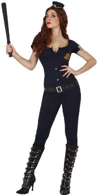 Atosa - Disfraz de policía para mujer, talla M/L (22943)
