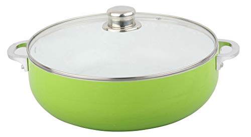 - Sherri Lynne Home ceramic pot provide superior nonstick performance,scratch resistant,easy to clean,lid with steam vent prevents overflow, oven to table dishwasher safe 3.2 QT, green kosher color