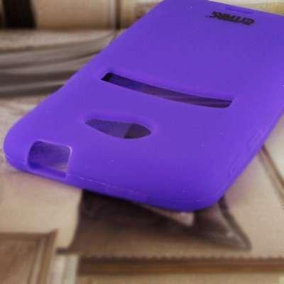 EMPIRE Sprint HTC EVO 4G LTE Silicone Skin Case Tasche Hülle Cover (Purple)