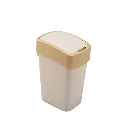 Wastebasket,Trash can with lid Plastic waste bins for kitchens Bathrooms Bedroom Office-A