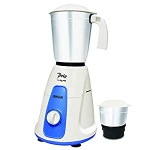 Inalsa Polo 550-Watt Mixer Grinder with 2 Jars, (White/Blue)