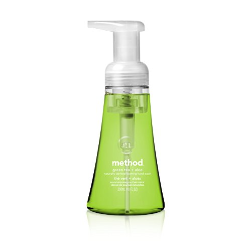 Method Foaming Hand Soap, Green Tea + Aloe, 10 Fl. Oz (Pack of 6)