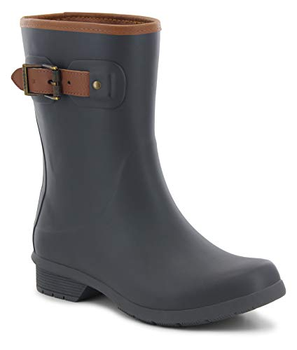 - Chooka Women's Mid-Height Memory Foam Rain Boot, Charcoal, 7 M US