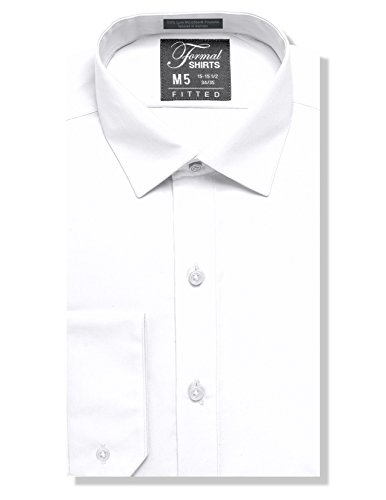 Luxe Microfiber Men's Fitted Spread Collar Dress Shirt - Style Jesse by Luxe Microfiber