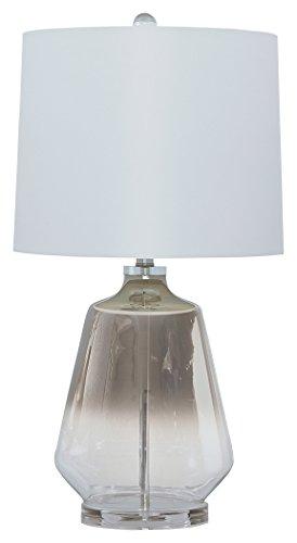 - Ashley Furniture Signature Design - Jaslyn Table Lamp - Contemporary - Silver Finish
