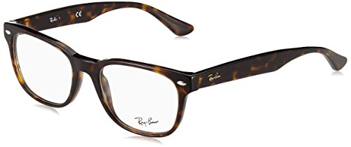 Ray-Ban RX5359 Square Eyeglass Frames, Tortoise/Demo Lens, 53 ()