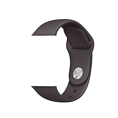Vitech Soft Silicone Replacement Sport Band for 42mm Apple Watch Models (3 Pieces of Bands Included for 2 Lengths, for Apple Watch Series 1 Series 2 Sport&Edition 2016) (42mm-Cocoa)