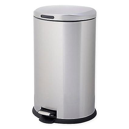 Testrite Oval 40 Liter Stainless Steel Trash Bin