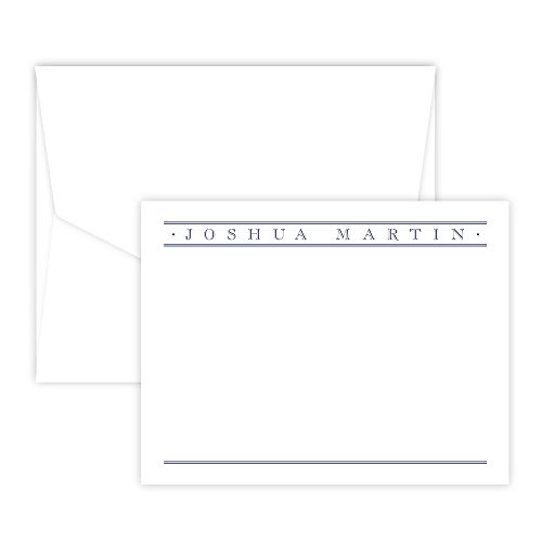 Personalized Churchill Raised Ink Correspondence Card (White)