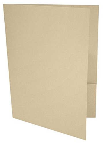 9 x 12 Presentation Folders - Nude (10 Qty) | Perfect for Tax Season - Brochures - Sales Materials and so much More!| LUX-PF-07-10