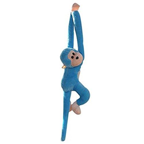 potato001 Stuffed Monkey Plush Toy Long Arm Hanging Gibbons Kids Birthday Gift for Kids (Blue)