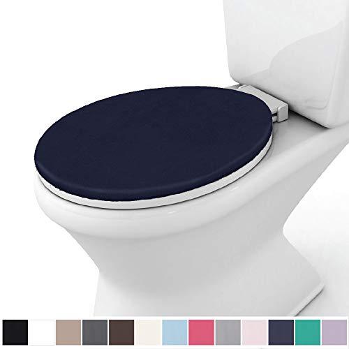 Gorilla Grip Original Thick Memory Foam Bath Rug Toilet Lid Seat Cover, 19.5