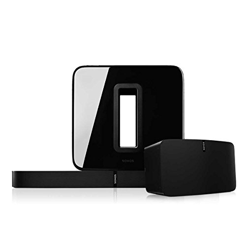 Sonos Multi-Room Digital Music System Bundle with PLAY:5, PLAYBASE, and SUB (Black)