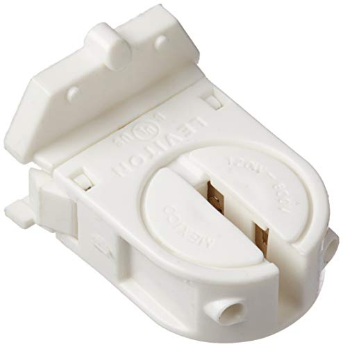 Leviton 23654-SWP Miniature Base, T5 Bi-Pin, Fluorescent Lampholder, Low Profile, Internal Shunt, White