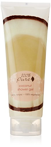 100% Pure Coconut Shower Gel 8 oz 31Z1B 2BRAgoL