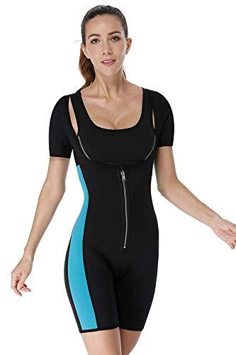 c21dfbe77db04 Neoprene Bodysuit Women Hot Sweat Sauna Shaper Suit Body Slimming Weight  Loss