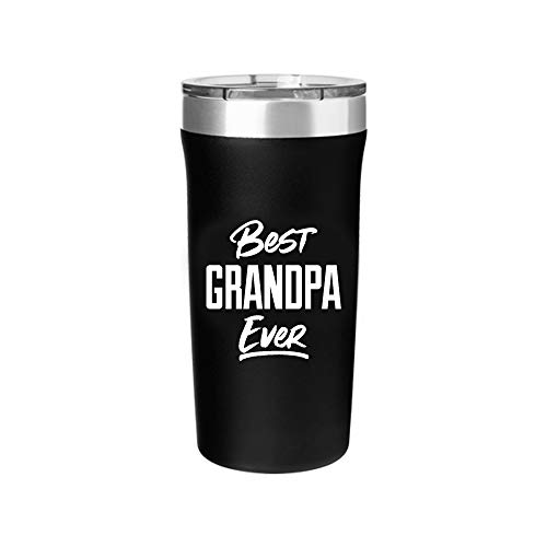 Best Grandpa Ever Tumbler - 18 oz Stainless Steel Insulated Travel Mug - Grandpa Birthday Gift | Christmas | Father's Day | New Grandpa Gift
