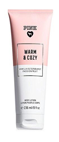 Victoria Secret PINK Body Lotion 236 ml/8 fl. oz (Warm & Cozy Vanilla & Sunburst Passionfruit)