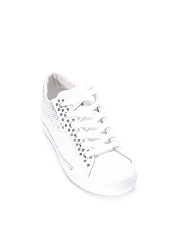Crime London Sneakers Donna 2506010 Pelle Argento/Bianco