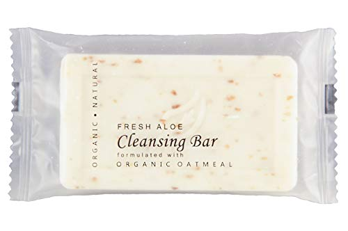 Oatmeal Cleansing Bar with Fresh Aloe, 1.25 oz. Hospitality Size Soap for Travel or Guest Bath (Case of 300) ()