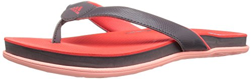 adidas Womens' Shoes | Cloudfoam Plus Y Athletic Slide Sandals, Trace Grey Trace Grey Easy Coral S, (7 M US)