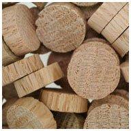WIDGETCO 3/4'' Oak Wood Plugs, End Grain