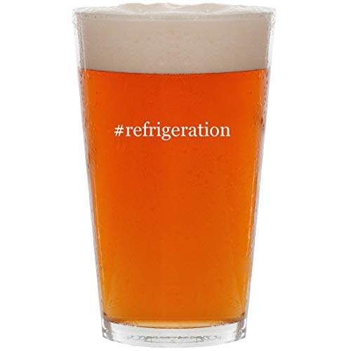 #refrigeration - 16oz Hashtag Pint Beer Glass