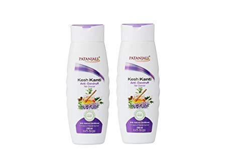 Patanjali Kesh Kanti Anti-Dandruff Hair Cleanser Shampoo, 200ml (Pack of 2) (Dandruff Best Shampoo India)
