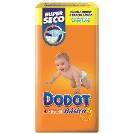 Dodot - DODOTT4 - Pañales Dodot Básico T4 48 uds