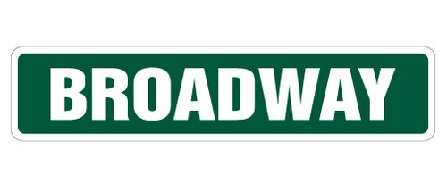 [SignJoker] BROADWAY Street Sign new york nyc new show gift novelty street sign road Wall Plaque Decoration -