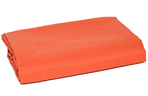 American Pillowcase College Dorm Twin XL Bed Flat Mattress Sheet Ultra Soft Hypoallergenic Wrinkle-Free, Stain, and Fade Resistant - Dark Orange