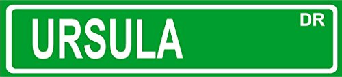 "Ursula Green Aluminum Street Sign 4""x18"" Great Décor for Any Room Girls Name"