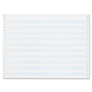 Sparco Computer Paper, 1/2-Inch Blue Bar, 20 lbs, 14-7/8 x 11 Inches, 2400 Count (SPR02180)
