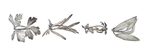 ''Herb Napkin Rings'' (Set of 4) by Michael Michaud for Silver Seasons Table Art … by Silver Seasons Michael Machaud