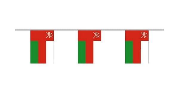Bandera Cadena 6 m Bandera de bandera de Omán: Amazon.es: Deportes y aire libre