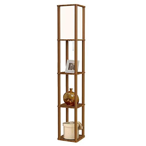 Cheap Led Shelf Floor Lamp 62 Tall 3 Tier Wood Standing Lamp