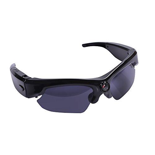 WiFi Sunglasses Sport Camera, LFHMLF Real Full HD 1080P Wireless Remote Video Camera with Wide Angle Mini DV Camera Support - Sunglasses Editing