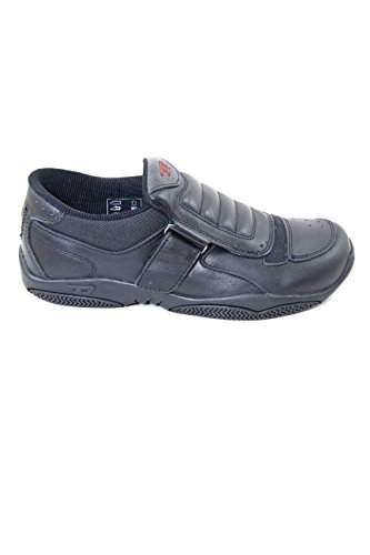 Diesel Black Leather Slip On Enduro with Shock Absorption Outsole