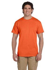 Fruit of the Loom Men's Short Sleeve Crew Tee, XX-Large  - Burnt (Burnt Orange Jersey)