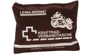 Leina-Werke 17010 Kraftrad-Verbandtasche Typ II ohne Klett, Schwarz/Weiß
