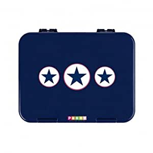Penny Scallan Navy Star Bento Box - 6 Compartment Childrens Lunchbox, Leakproof & Dishwasher Safe