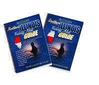 Illinois Fishing Map Book Guides Set