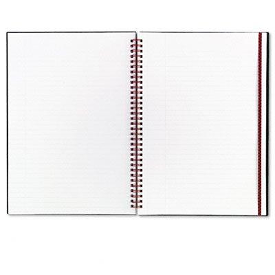 JDKJ99085 - John Dickinson Quad Ruled Notebook with Folder Black N Red Ruled Square