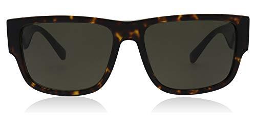 Versace Men's VE4369 Havana/Green One Size (Versace Sonnenbrillen Billig)
