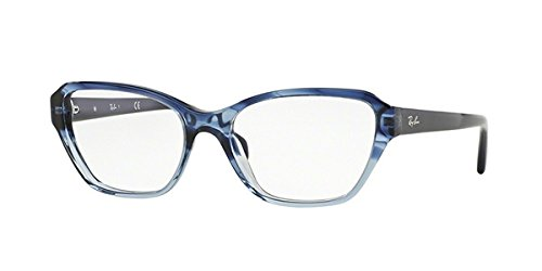 Ray-Ban - RX 5341, Cat Eye, acetate, women, STRIPED BLUE SHADED AZURE(5572), - Ray Eyeglasses Ban Cat Eyes